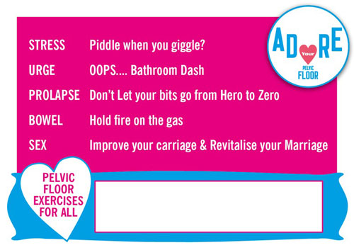 Adore Your Pelvic Floor Postcard